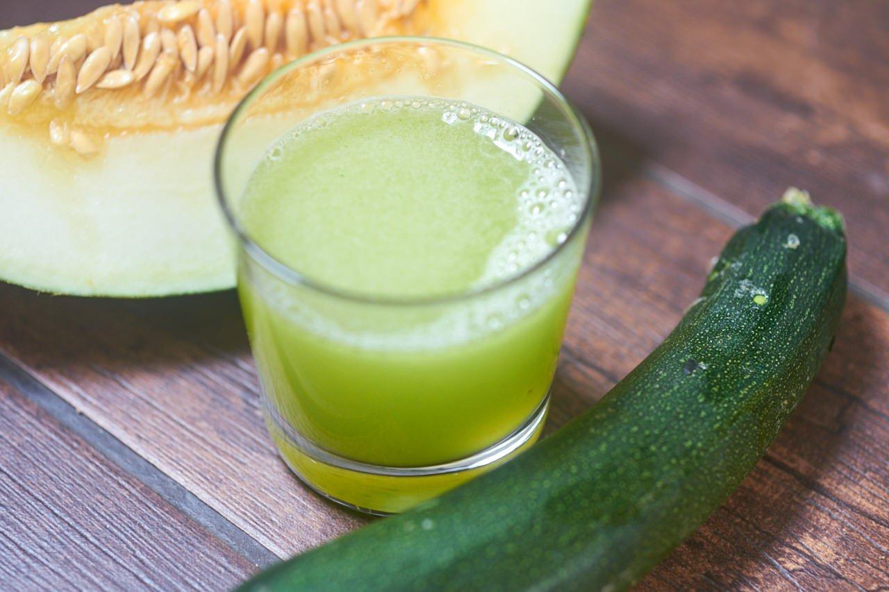 Zucchini-Saft mit Melone