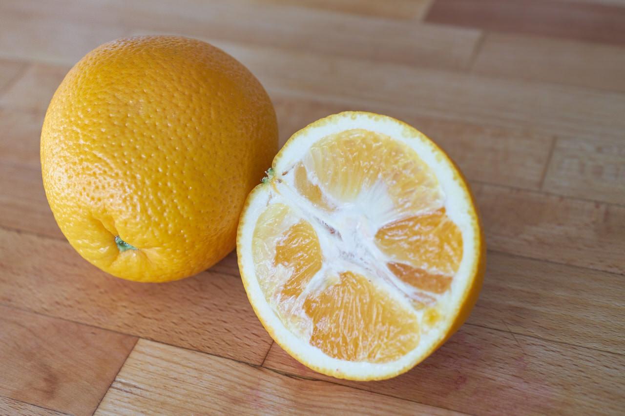 Orange Zutat für Säfte