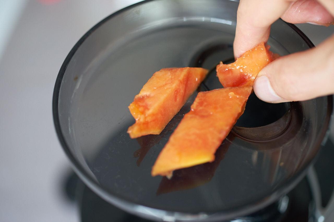 Papaya entsaften