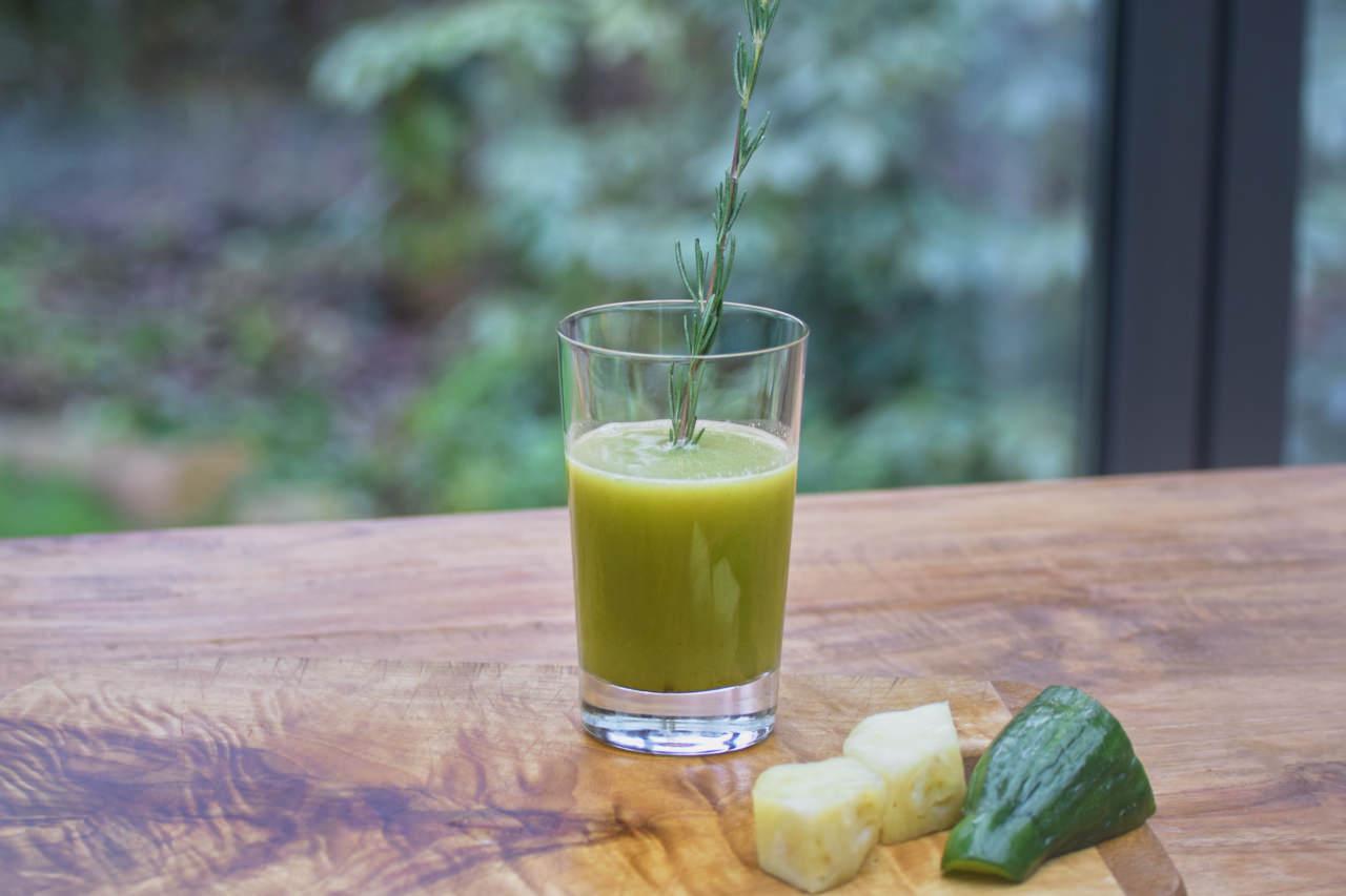 Ananas Salatgurke Rosmarin Saft