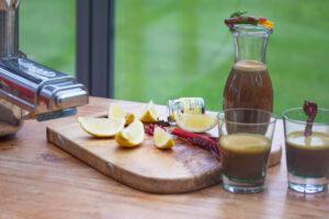 Granatapfel Mangold Saft mit Vaniellearoma