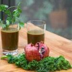 Granatapfel Grünkohl Koriander Saft