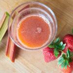 Rhabarber Erdbeere Saft
